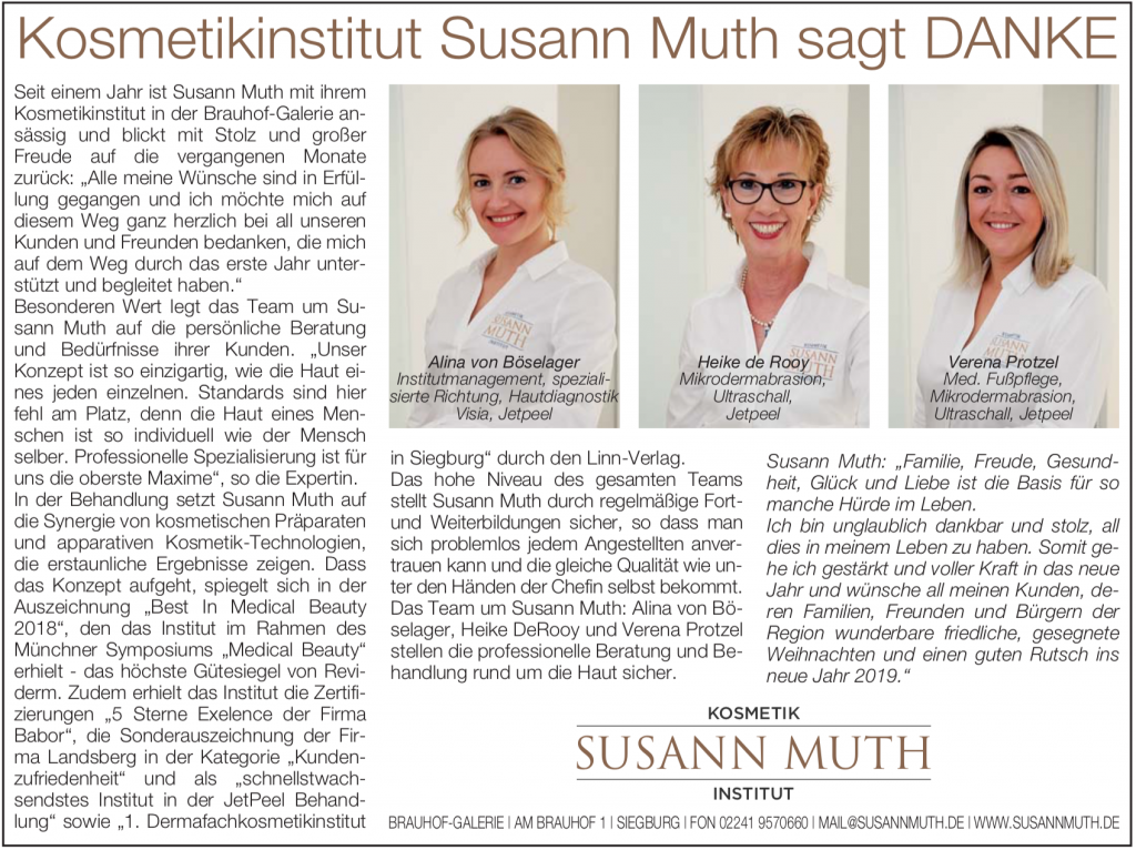 StadtMagazin 12-2018 Susann Muth