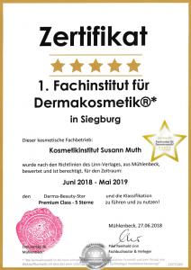Zertifikat Fachinstitut für Dermakosmetik
